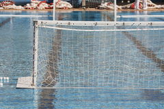 Het zwemmen en van het waterpolo doel Stock Afbeelding