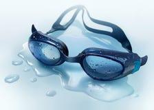 Het zwemmen googles Stock Foto