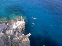 Het zwemmen in Ionische overzees Royalty-vrije Stock Fotografie