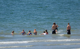 Het zwemmen lessen stock fotografie
