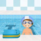 Het zwemmen lessen voor kinderen royalty-vrije illustratie