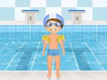 Het zwemmen lessen voor kinderen stock illustratie