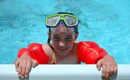 Het zwemmen met Beschermende brillen royalty-vrije stock foto's