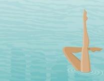 Het zwemmen oefeningen Stock Foto