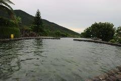 Het zwemmen opiniepeiling Stock Foto's
