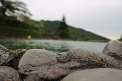 Het zwemmen opiniepeiling Stock Foto