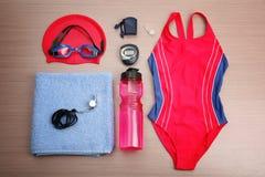 Het zwemmen Reeks royalty-vrije stock afbeelding