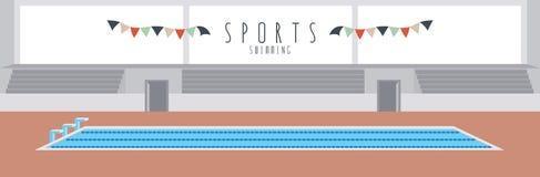 Het zwemmen (Sporten) Stock Afbeeldingen