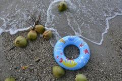 Het zwemmen tijd bij Boracay-strand, Sta Maria, Davao-Westerling Stock Foto