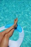 Het zwemmen van benen Royalty-vrije Stock Afbeeldingen