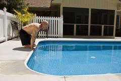 Het Zwemmen van de geamputeerde Stock Foto's