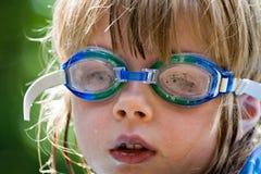 Het Zwemmen van de zomer stock foto's