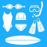 Het zwemmen Verschijningen Stock Foto