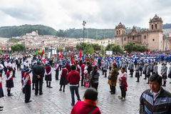 Het zweren van de Schoolpolitie of Juramentacion DE La Policia Esc Royalty-vrije Stock Foto's