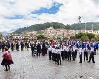 Het zweren van de Schoolpolitie of Juramentacion DE La Policia Esc Royalty-vrije Stock Afbeeldingen