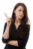 Het zwiepen met van haar vinger Royalty-vrije Stock Fotografie