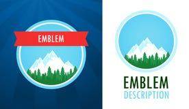 Het Zwitserse Embleem van Alpen vector illustratie
