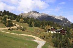 Het Zwitserse landschap van Alpen royalty-vrije stock foto's