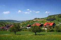 Het Zwitserse landschap van het platteland Royalty-vrije Stock Afbeelding