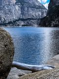 Hetch Hetchy Lake And Dam. Hetch Hetchy isn`t a well known part of Yosemite, yet it is one of the most beautiful places Royalty Free Stock Images