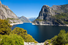 Hetch Hetchy Landscape. Beautiful view of Hetch Hetchy reservoir in Yosemite National Park, California Stock Photo