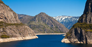 Hetch Hetchy Panorama. Hetch Hetchy reservoir on a spring day in Stock Images