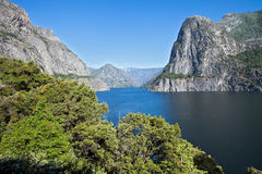 Hetch Hetchy Reservoir. That provides water for San Francisco Stock Photography