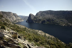 Hetch Hetchy Reservoir. The manmade Hetch Hetchy Reservoir in Yosemite National Park provides water to the city of San Francisco through a gravity-fed pipe Royalty Free Stock Photography