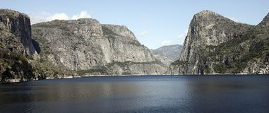 Hetch Hetchy Reservoir. The manmade Hetch Hetchy Reservoir in Yosemite National Park provides water to the city of San Francisco through a gravity-fed pipe Royalty Free Stock Photo