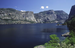 Hetch Hetchy reservoir in California mountains. Hetch Hetchy reservoir in Sierra Nevada Stock Images