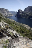 Hetch Hetchy Reservoir. The manmade Hetch Hetchy Reservoir in Yosemite National Park provides water to the city of San Francisco through a gravity-fed pipe Stock Images