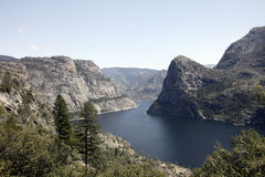 Hetch Hetchy Reservoir. The manmade Hetch Hetchy Reservoir in Yosemite National Park provides water to the city of San Francisco through a gravity-fed pipe Stock Photography