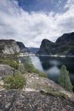 Hetch Hetchy Reservoir. Vertical image of Hetch Hetchy Reservoir in Yosemite National Park Royalty Free Stock Photos