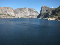 Hetch Hetchy Reservoir In Yosemite National Park. Hetch Hetchy Dam In Yosemite National Park (serving San Francisco drinking water Royalty Free Stock Images