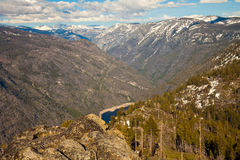 Hetch Hetchy Valley. View of Hetch Hetchy reservoir from Smith Peak in Yosemite National Park, California Royalty Free Stock Photo