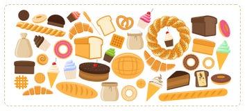Hete bakkerijproducten Stock Afbeeldingen