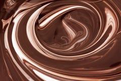 Hete bruine chocolade abstracte achtergrond, vloeistof stock illustratie
