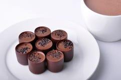 Hete cacao en chocolade Royalty-vrije Stock Fotografie