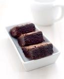 Hete cacao met brownies Stock Afbeeldingen