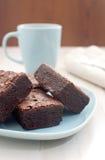 Hete cacao met brownies Royalty-vrije Stock Fotografie