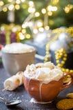 Hete Cacao met Heemst stock afbeelding