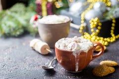 Hete Cacao met Heemst stock foto's