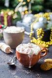 Hete Cacao met Heemst stock fotografie