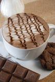 Hete chocolade royalty-vrije stock afbeeldingen