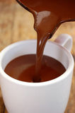 Hete chocolade Royalty-vrije Stock Foto's