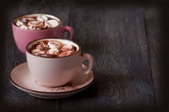 Hete chocolade. Royalty-vrije Stock Afbeelding
