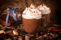 Hete chocolade Stock Afbeeldingen