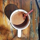 Hete Chocolade Batirol royalty-vrije stock foto's