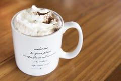 Hete chocolade latte royalty-vrije stock fotografie
