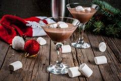 Hete Chocolade Martini met heemst Royalty-vrije Stock Foto's